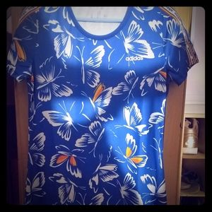 Addidas Floral Print Sporty Dress